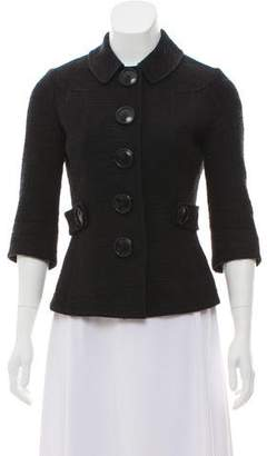Tory Burch Tweed Button-Up Jacket