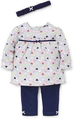 Little Me Fun Hearts Tunic, Leggings & Headband Set (Baby Girls)