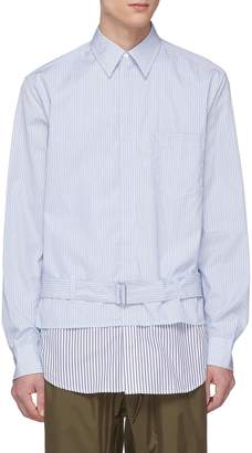 3.1 Phillip Lim Belted stripe layered shirt jacket