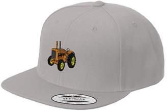 Speedy Pros Old Tractor Orange Embroidered Flat Visor Snapback Hat
