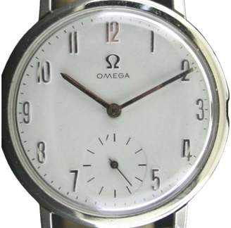 Omega Stainless Steel & Leather 33.50mm Watch $1,090 thestylecure.com