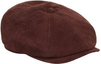 Stetson Hatteras Leather Flat Cap