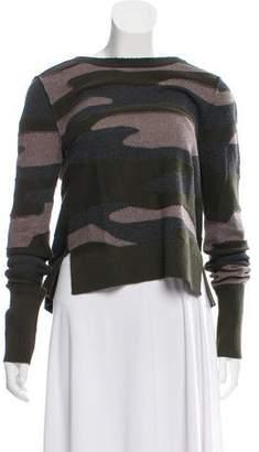 Pam & Gela Open Back Camo Patterned Sweater