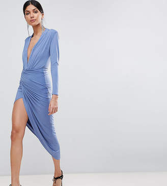 John Zack Tall Wrap Front Maxi Dress