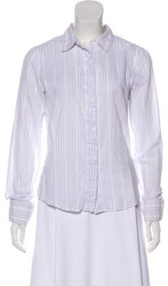 Calvin Klein Striped Button-Up Top