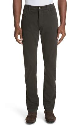 Canali Stretch Cotton Five-Pocket Trousers