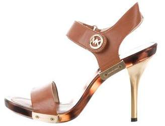 MICHAEL Michael Kors Leather Ankle-Strap Sandals