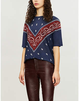 Sandro Altlas floral-patterned jersey T-shirt