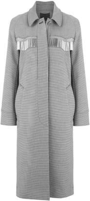 Alexander Wang Checkered Car coat