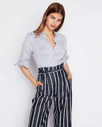 Express Vertical Stripe Original Long Sleeve Essential Shirt