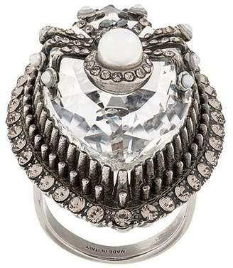 Alexander McQueen bejewelled spider ring