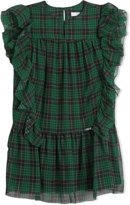 Burberry TEEN check chiffon dress