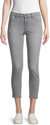 J Brand Skinny Low-Rise Cropped Stretch Jeans