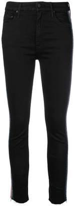 Mother side stripe skinny trousers