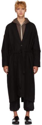 Jan-Jan Van Essche Black Yak Kimono Coat