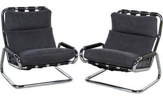 Pair of Cantilever Lounge Chairs grey Pair of Cantilever Lounge Chairs
