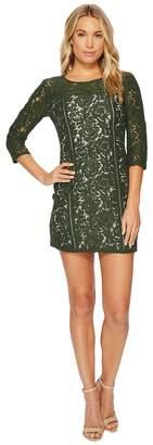 BB Dakota Shelby Floral Dress with Ladder Trim Women's Dress