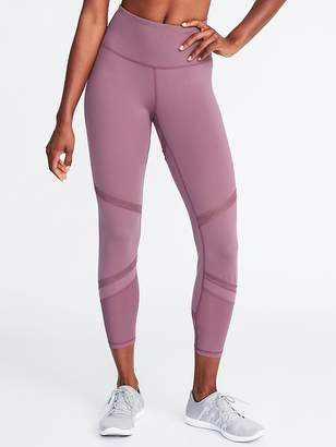 Old Navy High-Rise 7/8-Length Mesh-Trim Compression Leggings for Women