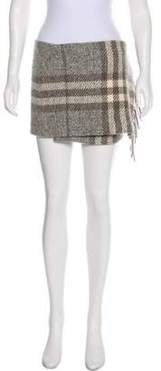 Burberry Wool-Blend Plaid Skirt