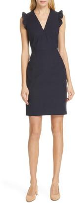Rebecca Taylor Tailored by V-Neck Sheath Dress