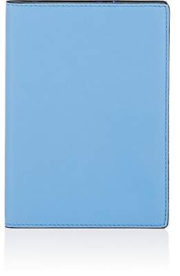 Smythson Men's Bond Leather Passport Case - Blue