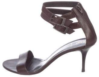 Fendi Leather Ankle Strap Sandals