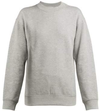 Paco Rabanne Logo Embroidered Cotton Sweatshirt - Womens - Grey