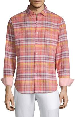 Tommy Bahama Nod To Madras Plaid Shirt