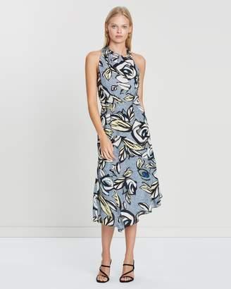 Reiss Rose High Neck Midi Dress
