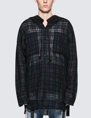 Faith Connexion Check Hooded Over Shirt