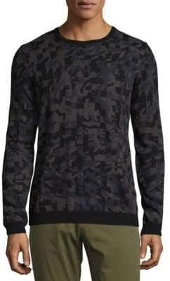HUGO BOSS Cotton Camouflage Sweatshirt