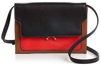 Marni Trunk Pochette Leather Convertible Crossbody