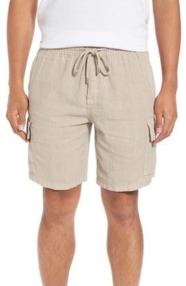 Men's Vilbrequin Linen Cargo Shorts $250 thestylecure.com
