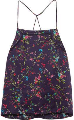 Paloma Blue - Stella Floral-print Silk-satin Camisole - Navy