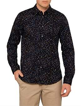 Paul Smith Tailored Fit Multi Coloured Pin Print L/S Casual Shirt