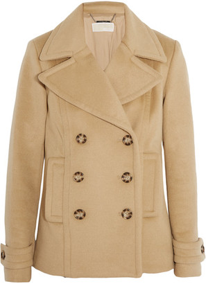 MICHAEL Michael Kors - Double-breasted Wool-blend Peacoat - Camel $425 thestylecure.com