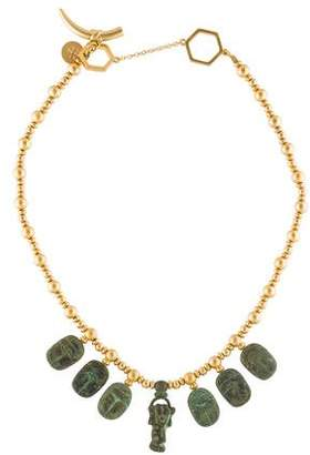 Tory Burch Scarab Charm Necklace