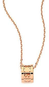 Gucci Women's Icon Twirl 18K Rose Gold Pendant Necklace