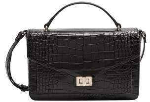 MANGO Cross-body croc-effect bag