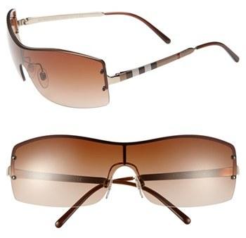 Burberry 'House Check Foil' 70mm Shield Sunglasses