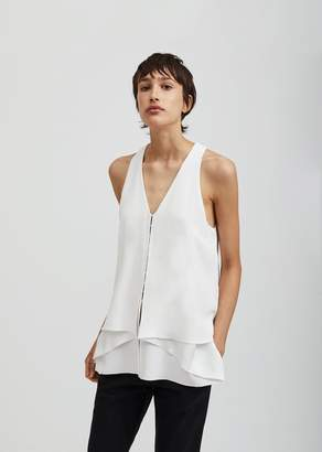 Proenza Schouler Sleeveless Crepe Top White