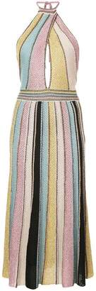 M Missoni striped flared midi dress