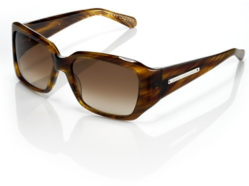 Marc Jacobs Collection Square Plastic Frame Sunglasses, Brown