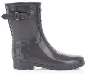 Hunter Original Refined Gloss Rubber Ankle Rain Boots