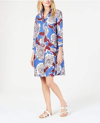 aba9578484 Max Mara Floral-Print Cotton Shirtdress