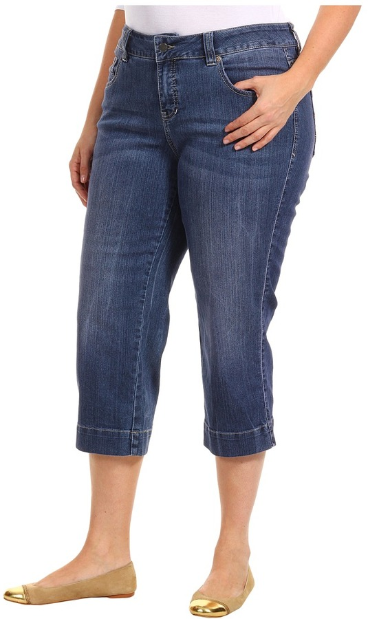 Jag Jeans Plus Size Canyon Crop in Porpoise (Porpoise) - Apparel