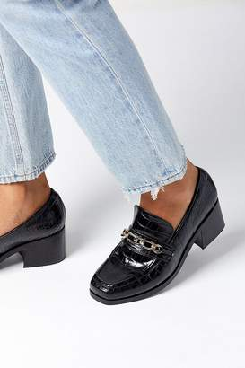 Urban Outfitters Gema Chain Trim Heeled Loafer