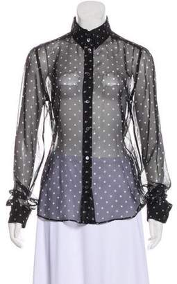Dolce & Gabbana Sheer Polka Dot Top