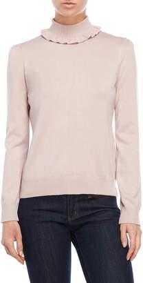 Joseph A Ruffle Collar Sweater