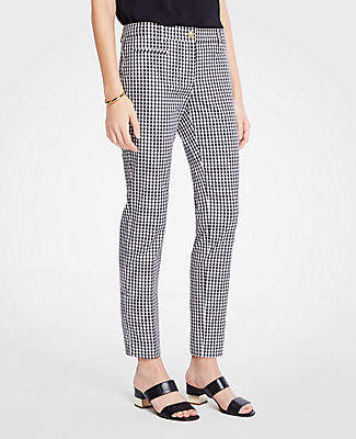 Ann Taylor The Petite Cotton Crop Pant In Gingham